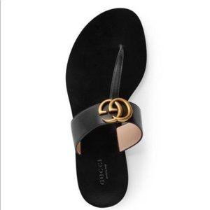 Black Gucci Sandals